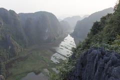 Landscape of valley in Vietnam stock photo