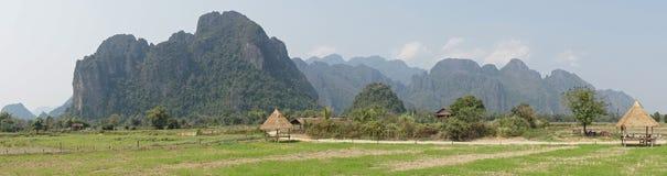 Landscape, Vang Vieng, Laos Stock Image