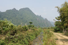 Landscape, Vang Vieng, Laos Stock Images