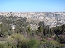 City of Jerusalem. Israel. Panorama of the religious architecture of the old part of the city. royalty free stock photo