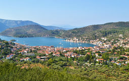 Landscape of Vathy Ithaca Greece Stock Photos