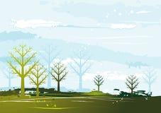 Landscape, vector Royalty Free Stock Photos