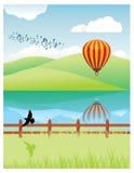 Landscape vector illustration Stock Photos