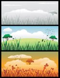 landscape vector illustration Stock Image