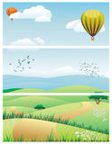 Landscape vector illustration Royalty Free Stock Photo