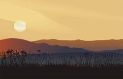 Landscape, vector illustration Stock Photos