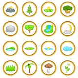Landscape vector set, cartoon style Royalty Free Stock Images