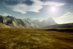 Landscape without vegetation Royalty Free Stock Image