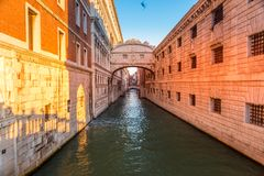 Sospiri`s Bridge in Venice Italy stock photos