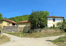 Landscape of very old traditional village houses Royalty Free Stock Photo