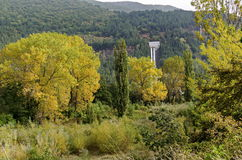 Landscape by VEZ Kokaliane in autumn Royalty Free Stock Images