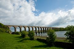 Landscape and viaduct Stock Photography