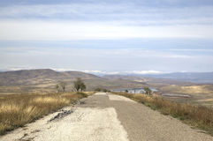 Landscape in the vicinity of the monastery of David-Gareja. Royalty Free Stock Photos