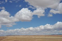 Landscape in the vicinity of Tiahuanaco. Royalty Free Stock Photography