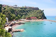 Landscape of Vico Equense. In Sorrento`s peninsula, Naples province, Italy stock images