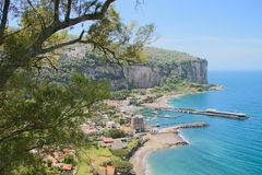 Landscape of Vico Equense. In Sorrento`s peninsula, Naples province, Italy royalty free stock photos