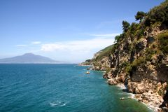 Landscape of Vico Equense. In Sorrento`s peninsula, Naples province, Italy royalty free stock photography