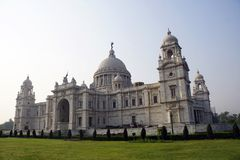 The landscape of Victoria Memorial, Kolkata. The Victoria Memorial one of most famous monuments of India, situated at heart of the City of Joy, Kolkata Calcutta Royalty Free Stock Images