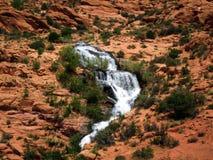 Landscape view. Waterfall - Utah - USA stock image