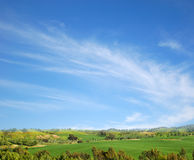 Landscape view. Under blue sky Royalty Free Stock Images