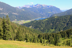 Landscape view of the Achensee (Lake Achen) Royalty Free Stock Photo
