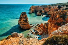 Algarve region in Portugal stock photos