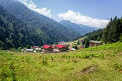 Landscape view of Ayder Plateau in Rize,Turkey. Ayder Valley is popular destination for summer tourism Stock Photos