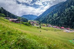 Landscape view of Ayder Plateau in Rize,Turkey. Ayder Valley is popular destination for summer tourism Royalty Free Stock Photography