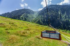 Landscape view of Ayder Plateau in Rize,Turkey. Ayder Valley is popular destination for summer tourism Royalty Free Stock Photo