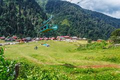 Landscape view of Ayder Plateau in Rize,Turkey. Ayder Valley is popular destination for summer tourism royalty free stock photos