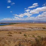 Landscape view background. Lake amboseli field dust sand sky clouds nature travel africa kenya royalty free stock photography