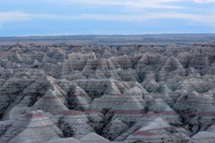 Landscape view of the Badlands National Park Royalty Free Stock Photos