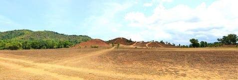The landscape view of bald mountain or grass mountain in Ranong Stock Photos
