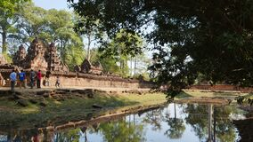 Landscape view of Banteay Srei or Lady Temple in Siem Reap, Cambodia