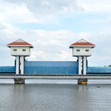Landscape view, barrage towers in Thailand. Stock Photography