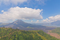 Landscape view of Batur volcano Royalty Free Stock Photography