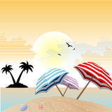 Landscape view of beach Royalty Free Stock Image