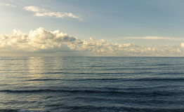 Landscape view of beautiful deep blue sea Stock Images