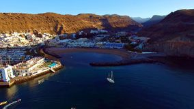 Landscape and view of beautiful Gran Canaria at Canary Islands, Spain stock images