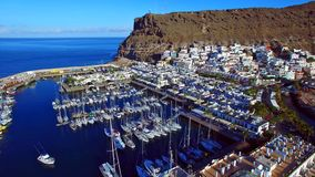Landscape and view of beautiful Gran Canaria at Canary Islands, Spain.  stock photo