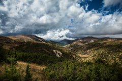 Landscape view of Bistra Mountain Stock Images