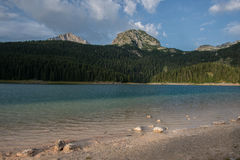Landscape view of Black lake in Durmitor Royalty Free Stock Image