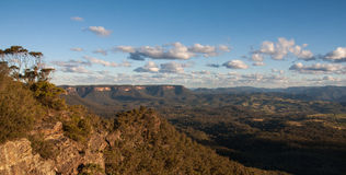 Landscape view of Blue Mountains national park. Royalty Free Stock Photo