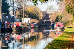 Landscape View of Boat Channel in United Kingdom Stock Photography