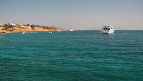 Landscape View of the Boats in the Red Sea, Egypt. stock video