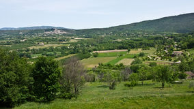 Landscape View of Bonnieux, France Stock Photo