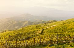 Landscape view at border of Thailand and Myanmar Stock Photo