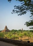 Buddhist temple landscape view, Bagan-Myanmar stock photos