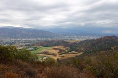 Landscape. View of Burbank from hills Stock Photo