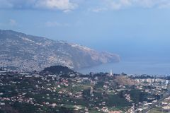 Landscape view from Cabo Girao, Madeira. Landscape view from Cabo Girao on Portuguese island of Madeira stock photo
